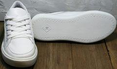 Белые модные кроссовки на белой подошве женские Maria Sonet 274k All White.