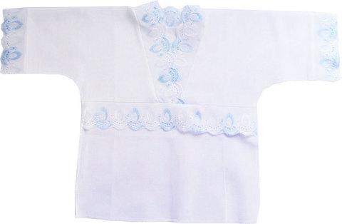Папитто. Крестильная рубашечка голубая, вид 2