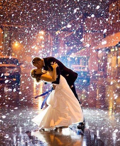Алмазная Мозаика 40x50 Поцелуй под снегом