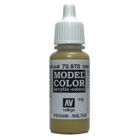 Model Color Dark Yellow 17 ml.