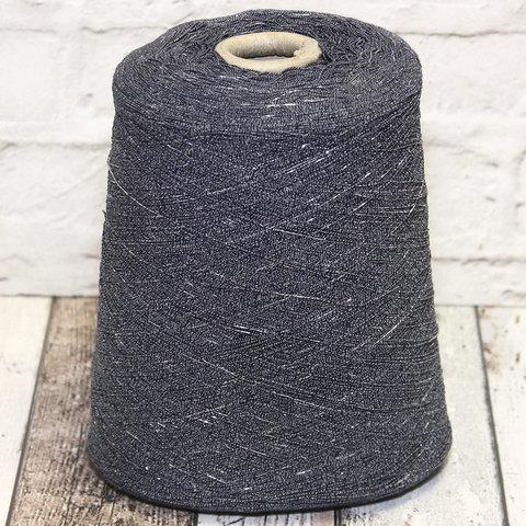 Смесовка с люрексом COFIL ANICE LUX 770 джинс с серебром
