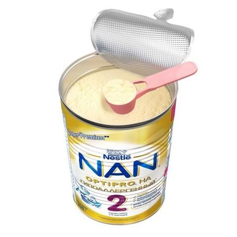 NAN® 2 OPTIPRO®   гипоаллергенный Cухая молочная смесь  с рождения 400гр