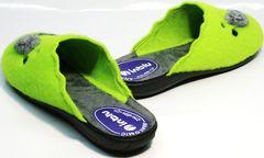 Красивые тапочки для дома женские Inblu NC- 1B Mouse Light Green