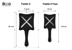 ikoo Paddle X Beluga Black Расческа для волос Черная белуга