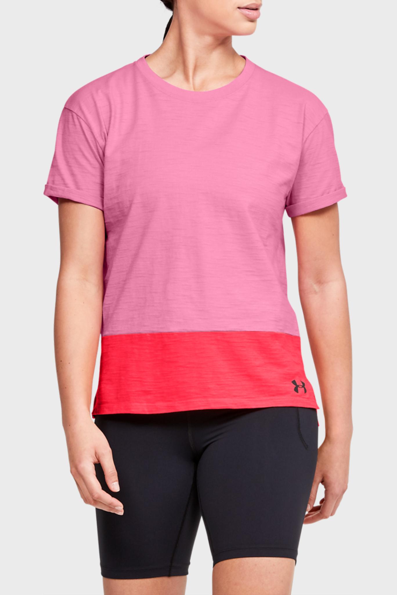 Женская розовая футболка UA Charged Cotton SS Under Armour