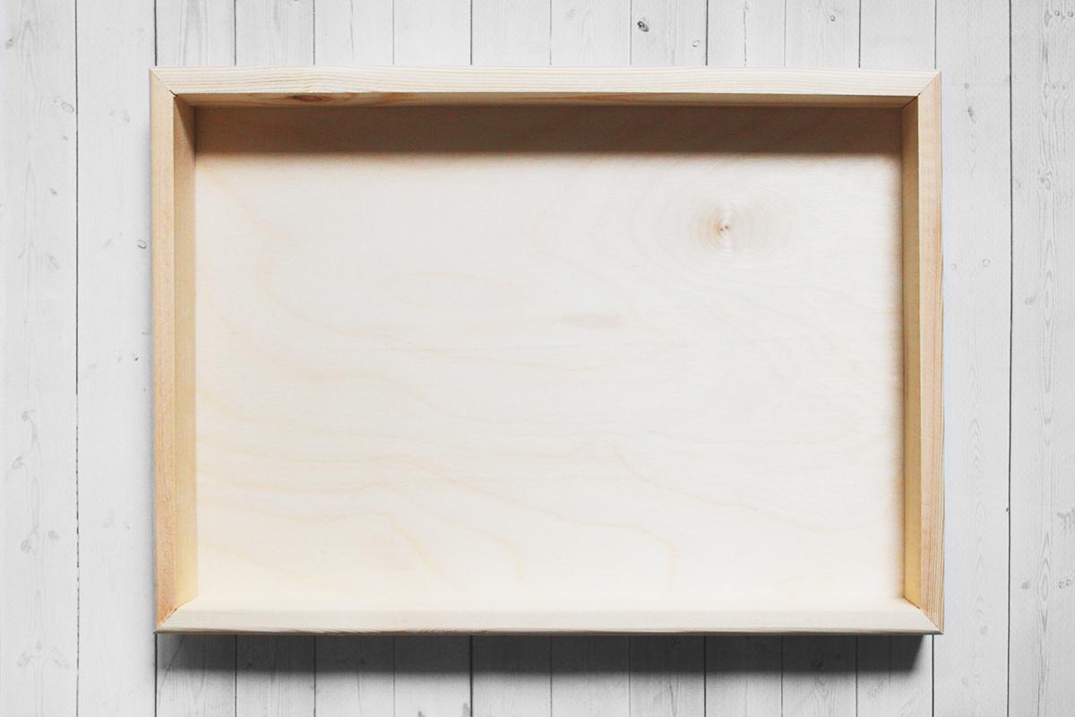 Вудбокс - короб для оформления 20*30*3 см