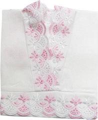 Папитто. Крестильная рубашечка розовая вид 3