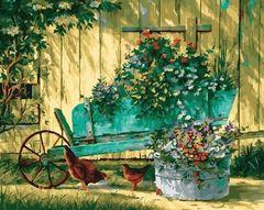 Садовая идиллия-раскраски  по номерам