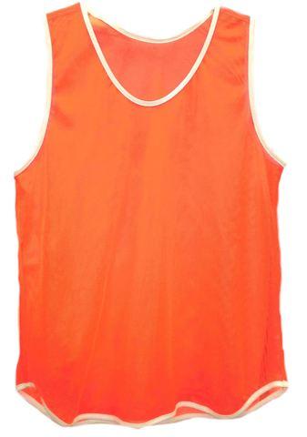 Манишка футбольная сетка оранжевая