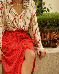 Блуза с паттерном «цепи»