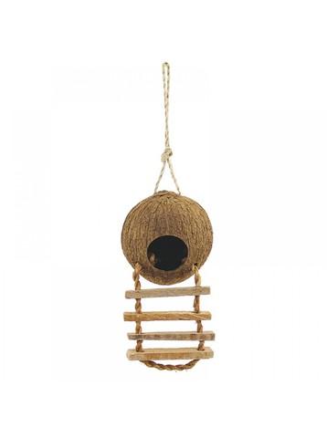 Triol домик Natural для птиц из кокоса