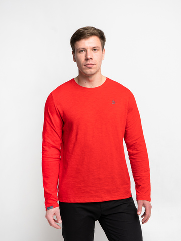 Long-sleeved crewneck scarlet t-shirt