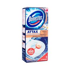 Стикер для унитаза Domestos Attax Тропическая свежесть (3 штуки в упаковке)