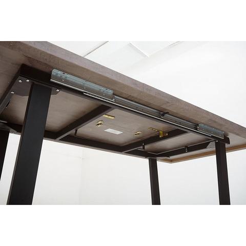 Стол Лофт Оникс / опора черная / 138(180)х85 см