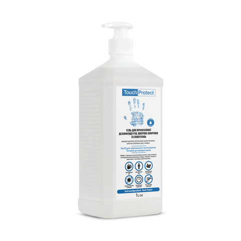 Антисептик гель для дезинфекции рук, тела и поверхностей Touch Protect 1 l (1)