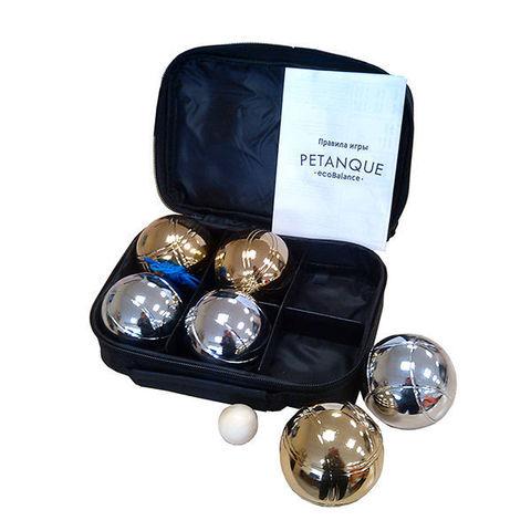 Петанк (боча) серебро + золото, 6 шаров