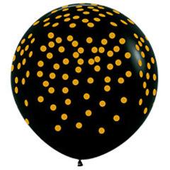 S 36''/91см, Золотое конфетти, Черный (080), пастель, 5 ст. / 1 шт. /