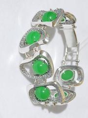 Метафора с камнем (серебряный браслет)