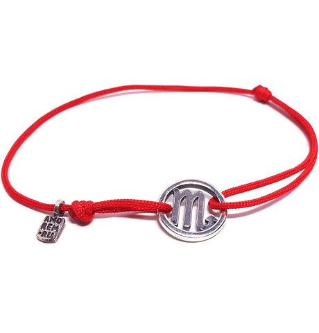 Scorpio bracelet, sterling silver