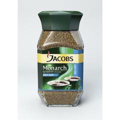 Кофе Jacobs Monarch Decaf растворимый стеклянная банка,95г