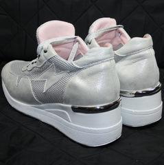 Сникерсы обувь летние Topas 4C-8045 Silver.