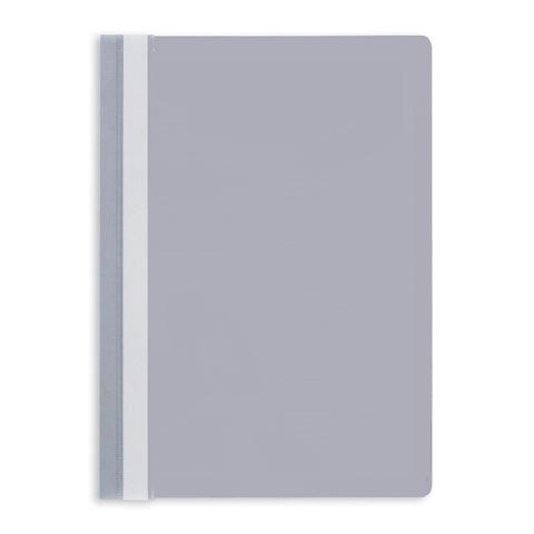 Скоросшиватель пластиковый Attache A4 до 100 листов серый (толщина обложки 0.13/0.15 мм, 10 штук в упаковке)