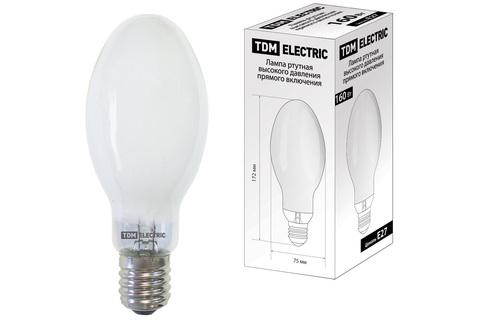 Лампа ртутная высокого давления прямого включения ДРВ 160 Вт Е27 TDM
