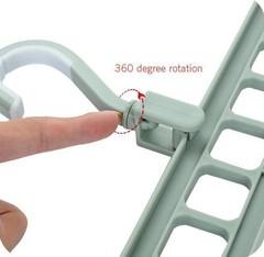вешалка плечики для одежды в шкаф универсальные Rotate Anti-skid Folding Hanger фото