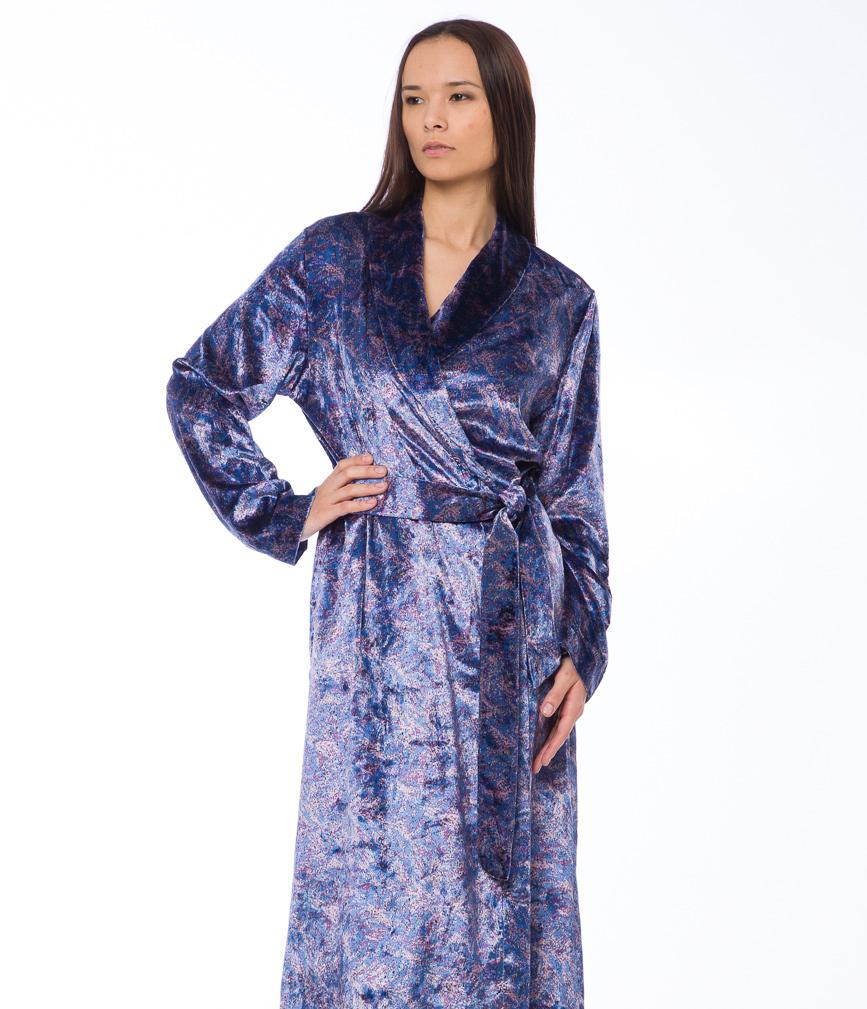 Женский велюровый халат B&B