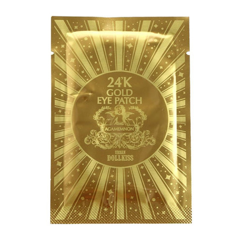 BAVIPHAT (URBAN DOLLKISS) 24K Gold Патч для глаз гидрогелевый с 24К золотом Urban Dollkiss Agamemnon 24K Gold Hydrogel Eye Patch 2,8гр