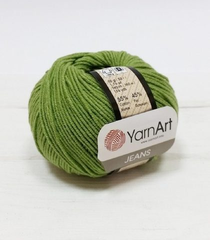 Пряжа YarnArt JEANS - (69-летняя трава)
