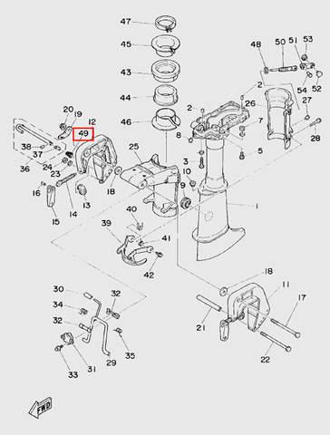 Пружина штифта регулировки угла для лодочного мотора T5 Sea-PRO (10-49)