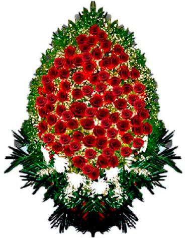 Траурный венок из живых цветов ВЖ 07