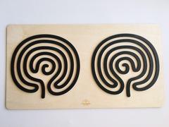 Трафареты графомоторные Мозг, для одновременного рисования двумя руками, Сенсорика