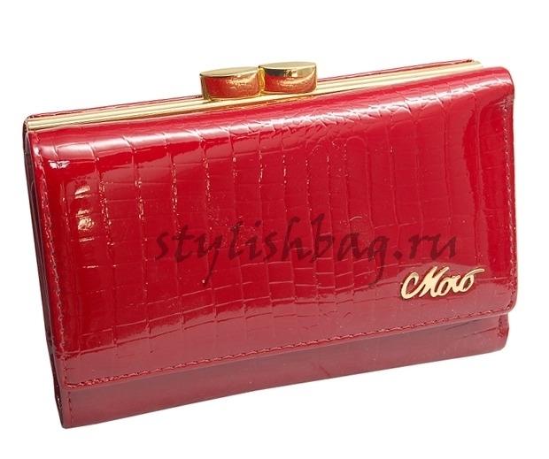 Женский красный небольшой кошелек из кожи Moro 59009