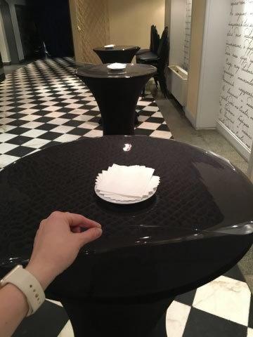 Скатерть прозрачная круглая 70 см. 1 мм.