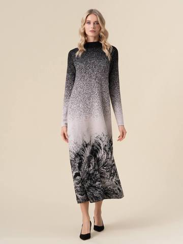 Женское платье черного цвета из кашемира и вискозы - фото 2