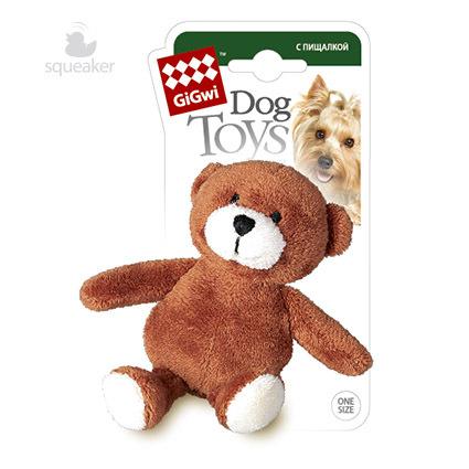 игрушка для собак медведь gigwi