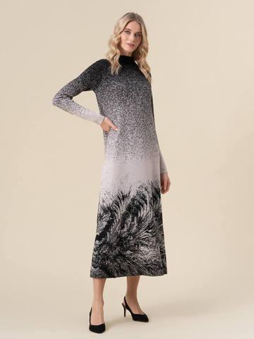 Женское платье черного цвета из кашемира и вискозы - фото 3