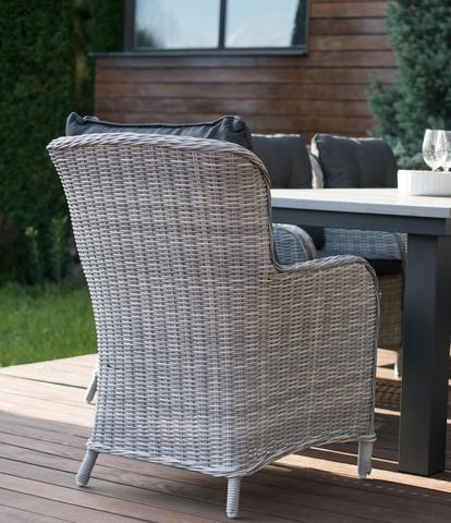 Кресло «Бергамо» из искусственного ротанга, цвет светло-серый