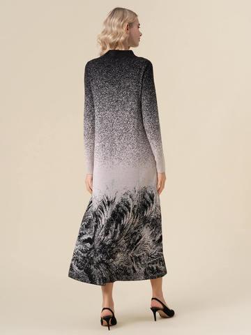 Женское платье черного цвета из кашемира и вискозы - фото 4