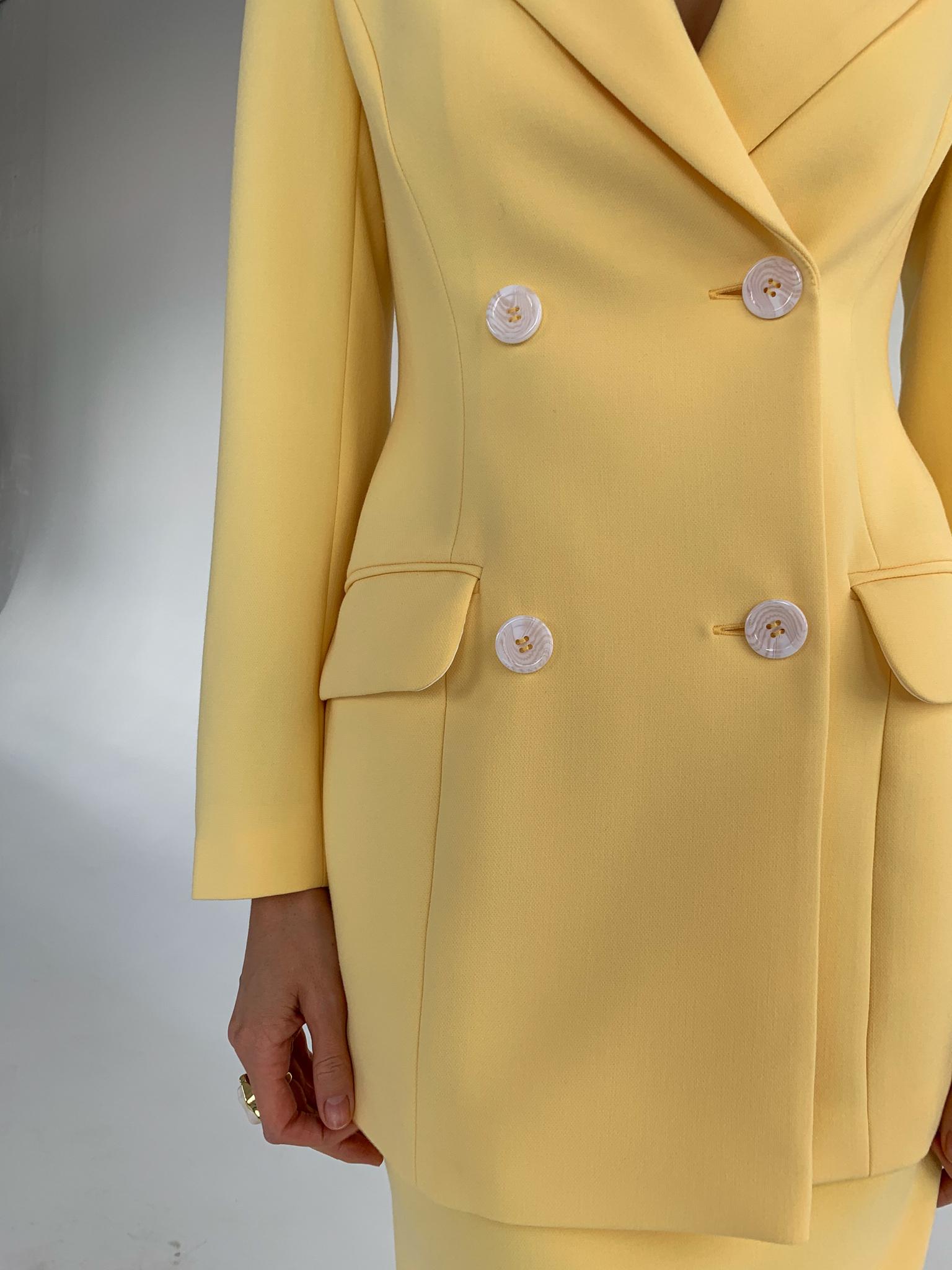 Пиджак приталенный (лимонный)