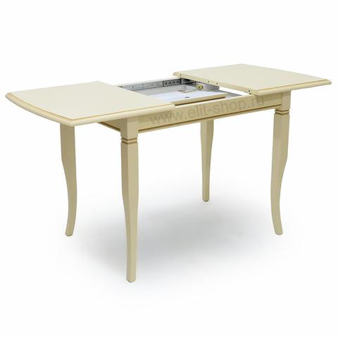 Стол БРУНО-Ш 100/65 Крем с коричневой патиной / 100(141)х65см