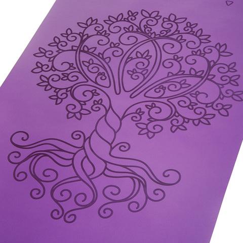 Каучуковый йога коврик Tree of Life с разметкой 185*68*0,4 см