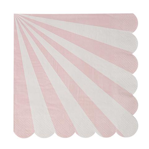 Салфетки в розовую полоску, бол.