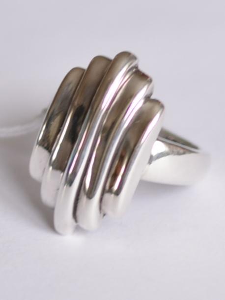 Пять полосок (кольцо из серебра)
