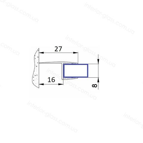 Уплотнитель для душевых кабин HDL-204