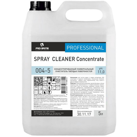 Чистящее средство универсальное для твердых поверхностей Pro-Brite Spray Cleaner Concentrate 5 л (концентрат)