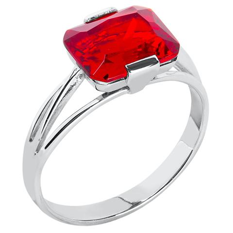Кольцо из серебра с корунд рубином Арт.1103к