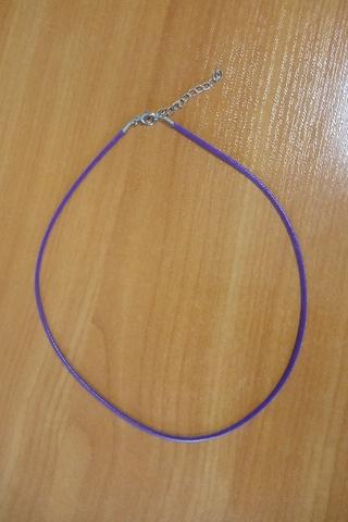 Шнурок 45 см фиолетовый
